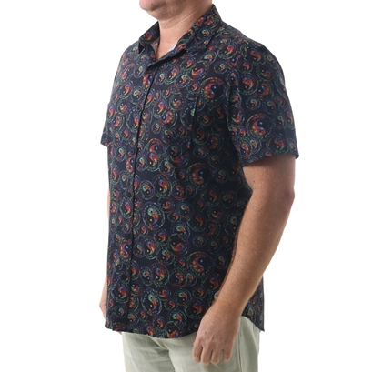 Camisa town & country estampada logos plus size