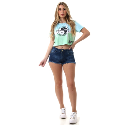Baby look town & country girls cropped tie dye