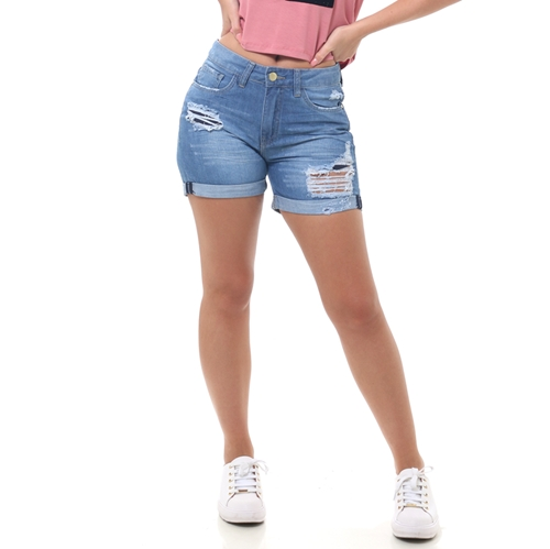 Shorts world wave jeans especial destroyer