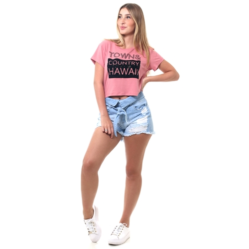 Shorts world wave jeans especial clochard