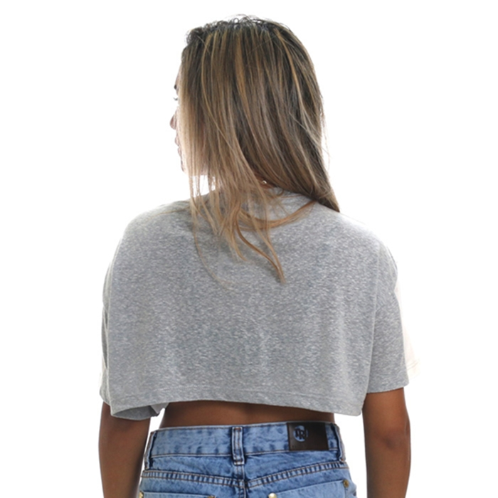 camiseta tricats cropped forever - 16760t