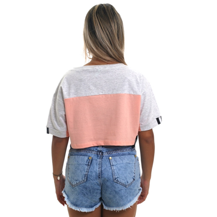 camiseta tricats cropped recorte big world - 16777t