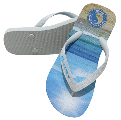 Chinelo town & country beach branco