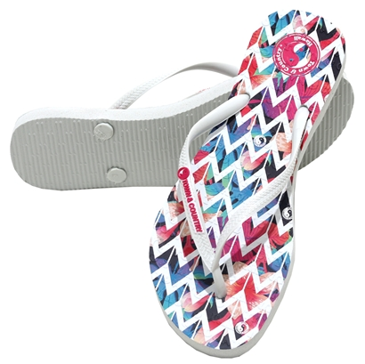 Chinelo town & country girls zig zag branco