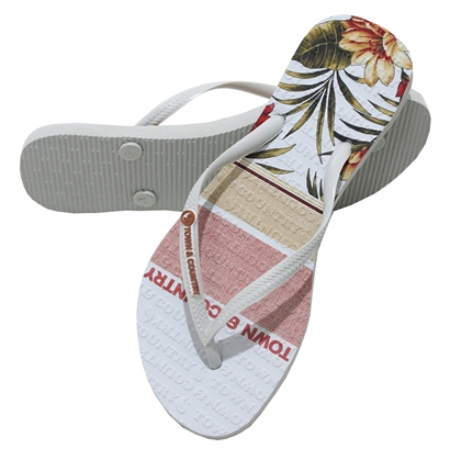 Chinelo town & country girls partilha branco