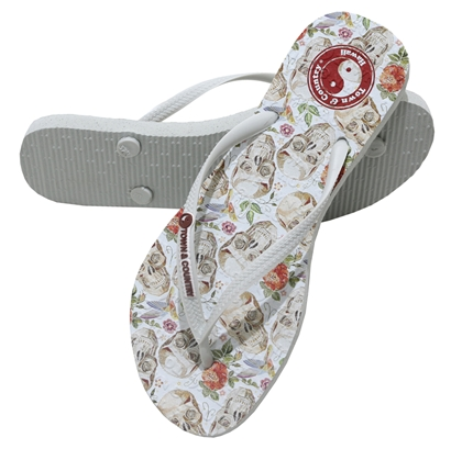 Chinelo town & country girls cave branco